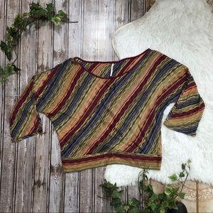 FREE PEOPLE Multicolored Slanted Stripe Sweater S
